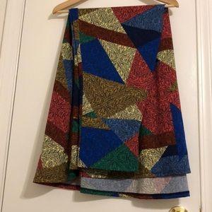 LuLaRoe Women's Geometric Color Block Maxi Skirt